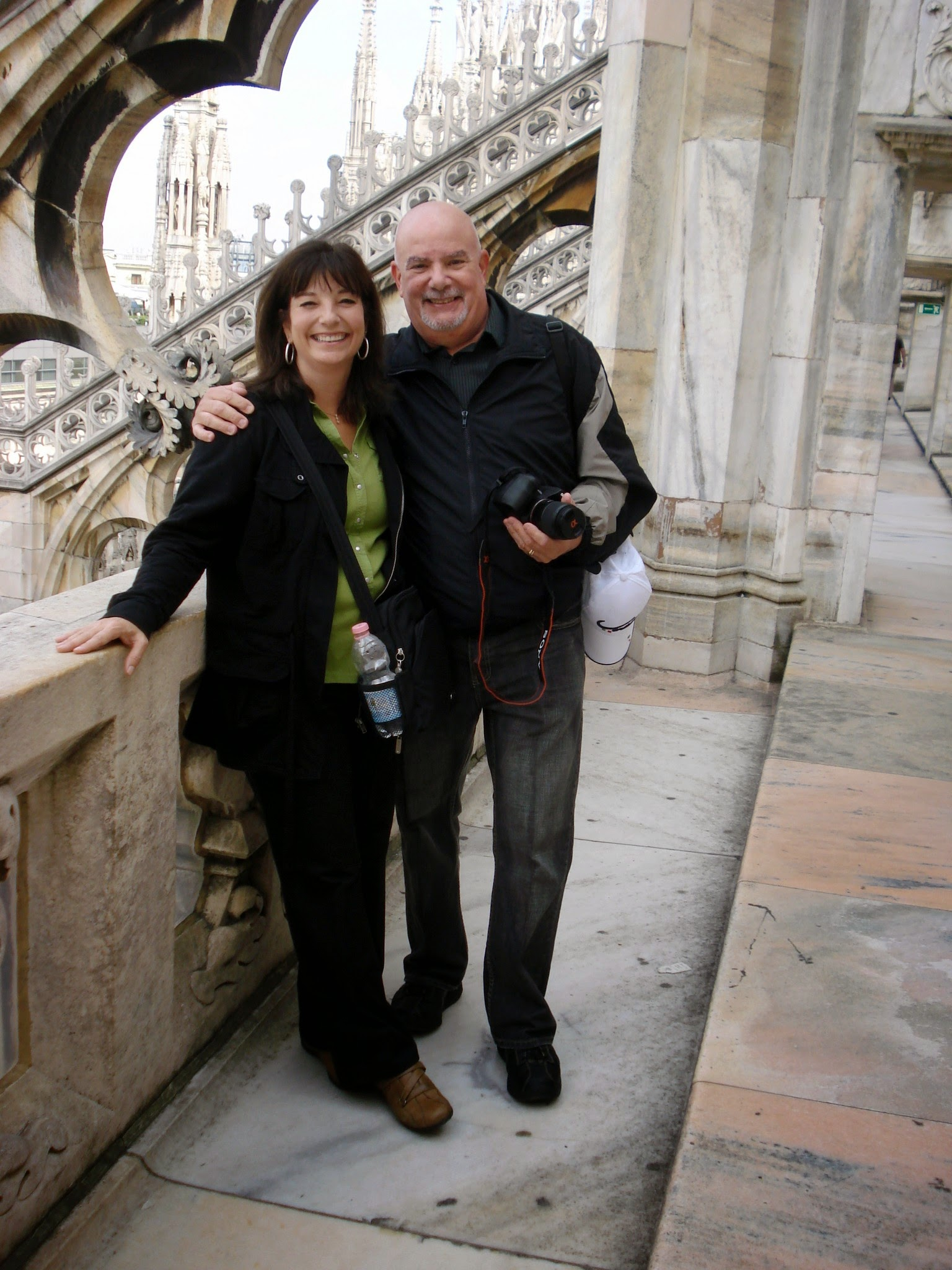 Ilene and Gary on the roof of the duomo in Milan, Italy during our 2010 adventure. ouritalianjourney.com