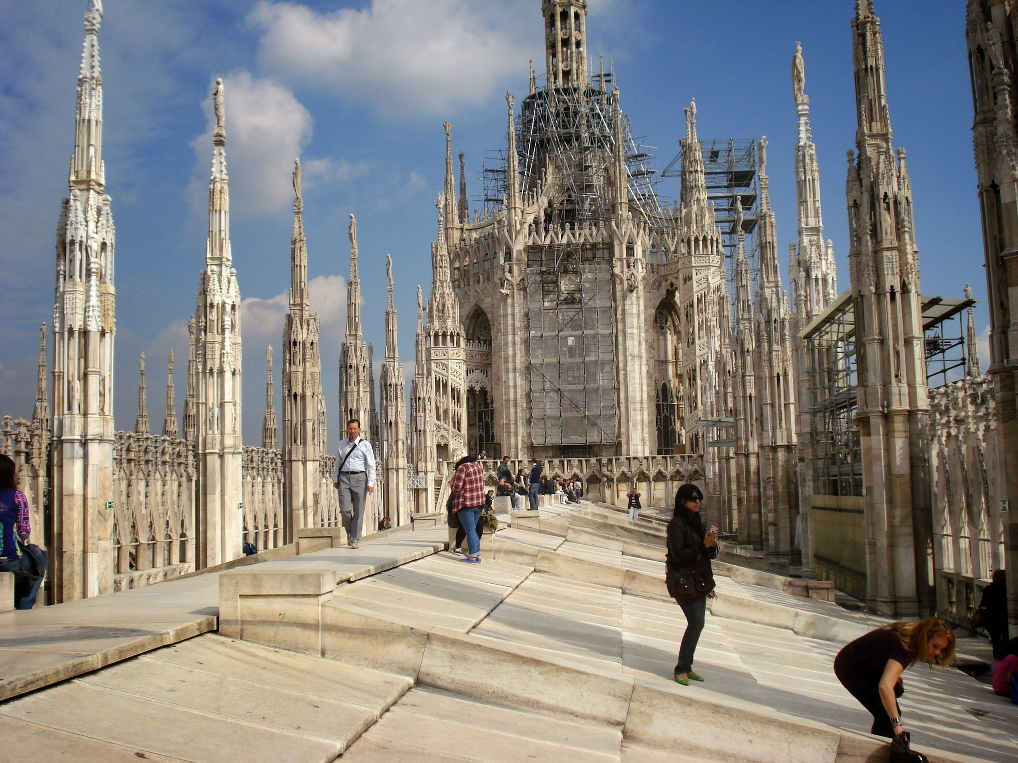 roof of Duomo in Milan, Italy on our 2010 adventure with ouritalianjourney.com