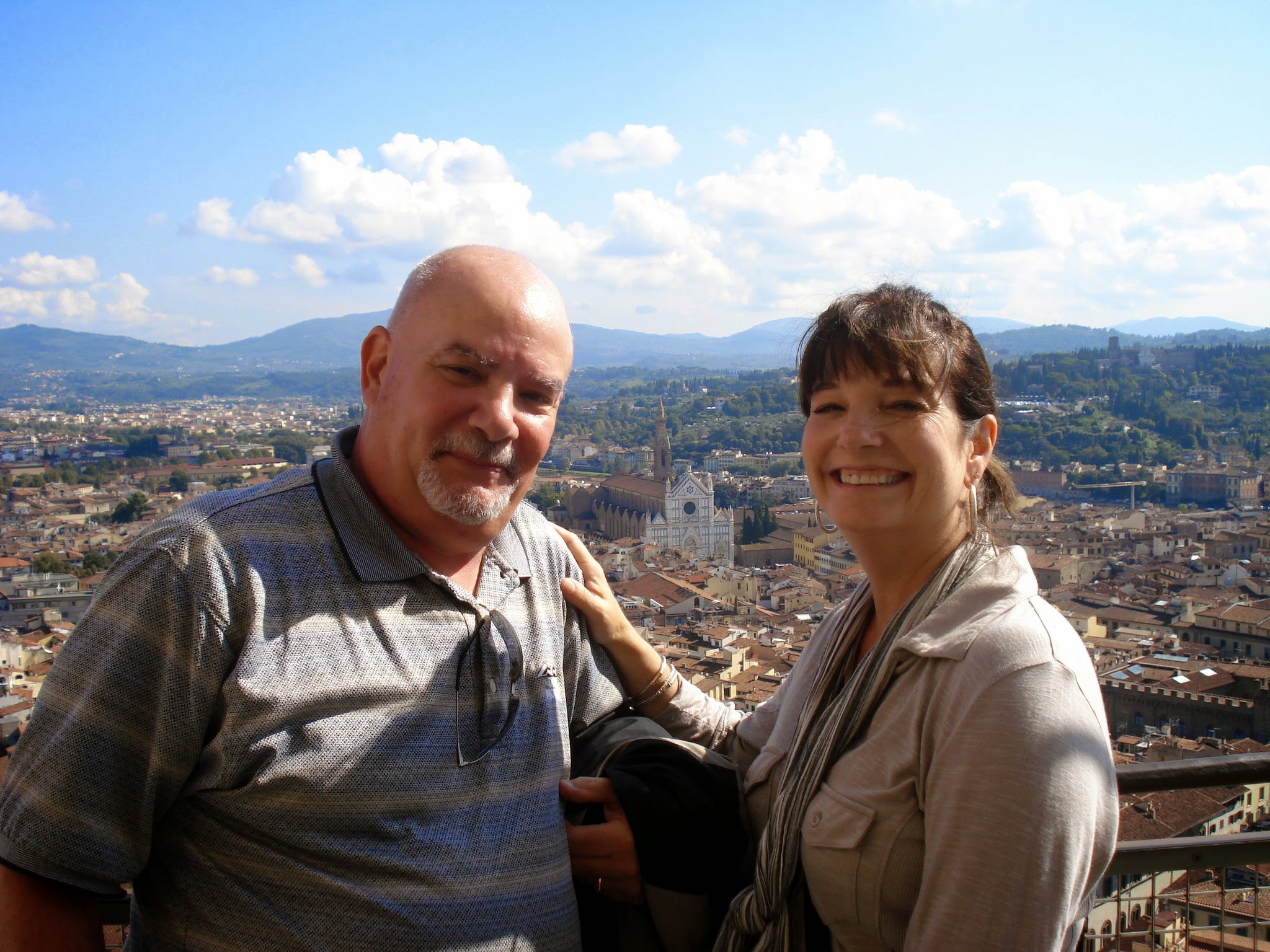 on top of the duomo in Florence, Italy during our 2010 adventure. ouritalianjourney.com