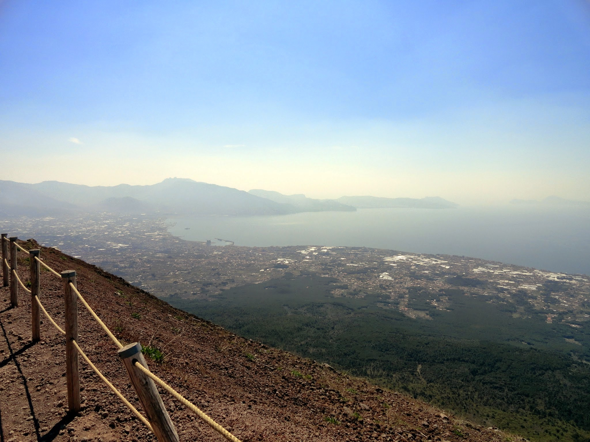 Climbed to the top of Mt. Vesuvius