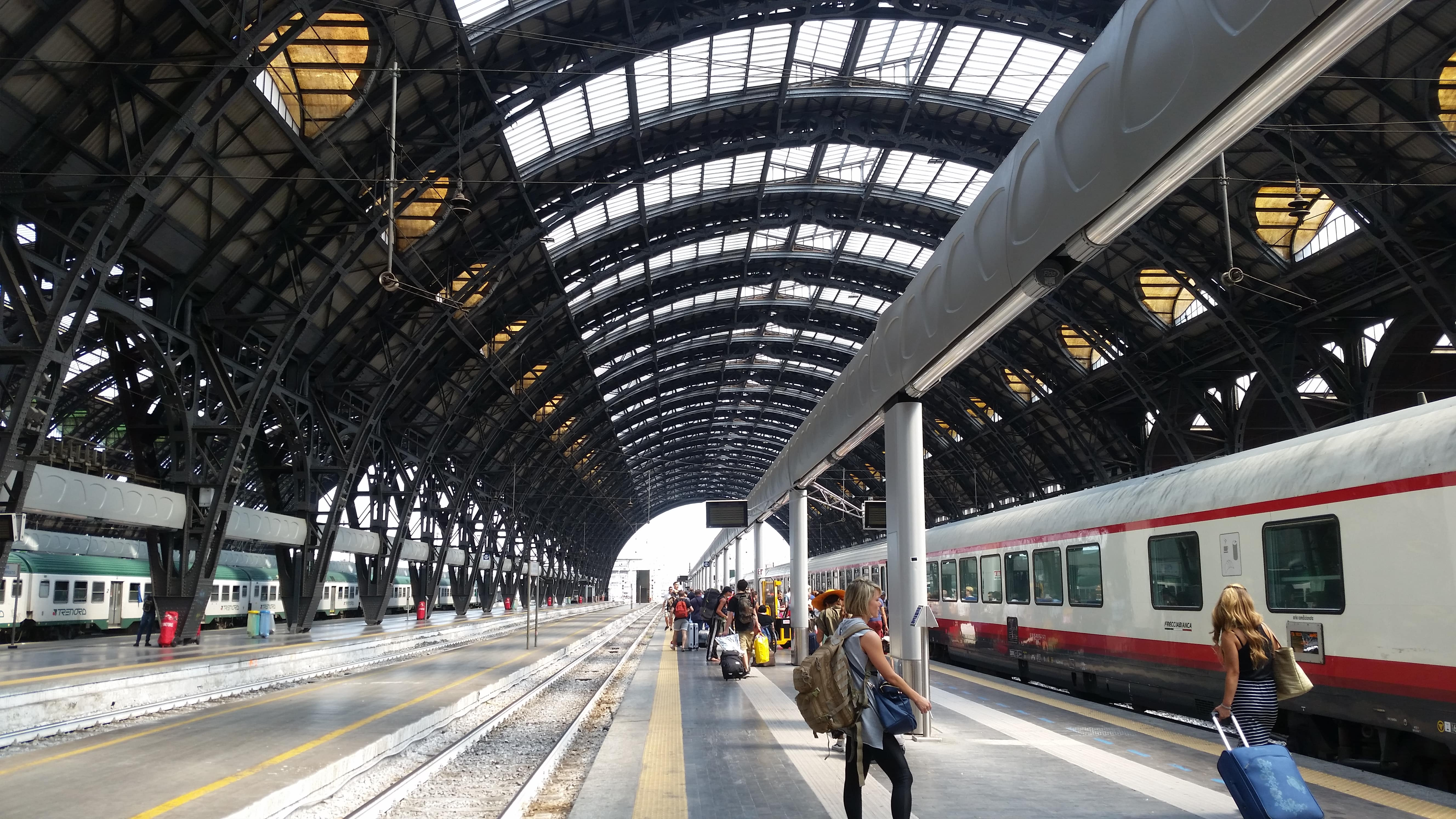 Milan train station is part of the 5 useful tips for traveling in Italy. ouritalianjourney.com