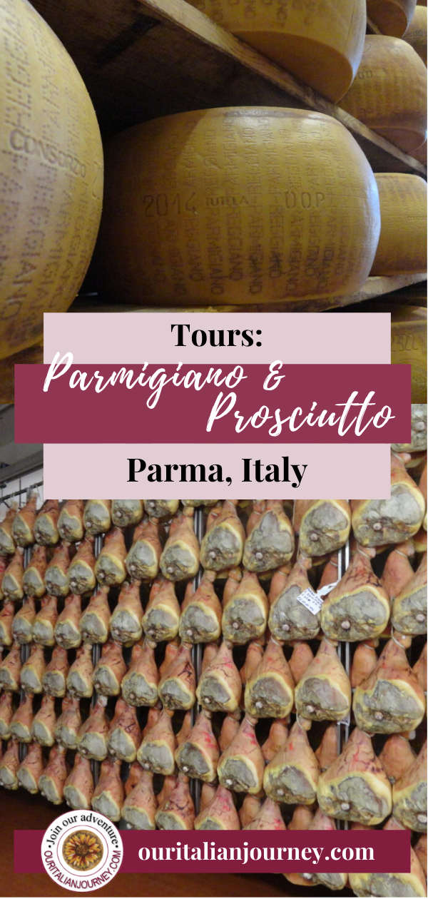 Tours in Parma, Italy. information about iconic Italian foods. https://ouritalianjourney.com/prosciutto-di-parma-tour
