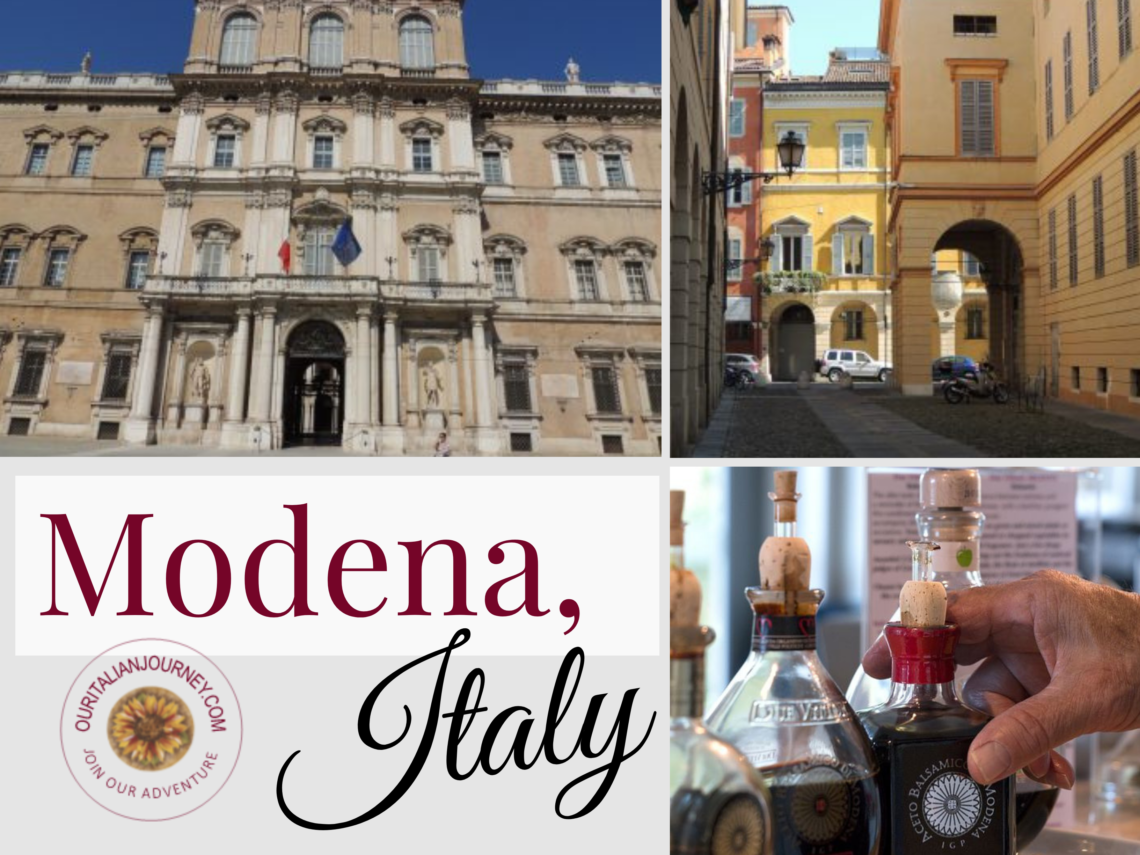 Modena Italy is known for its balsamic vinegar and iconic Italian sports cars.
