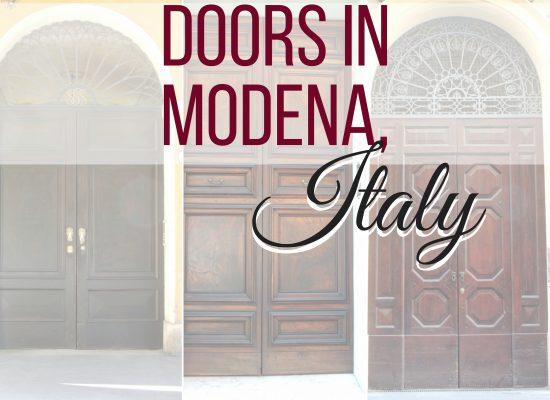 Doors in Modena, Italy, ouritailianjourney.com