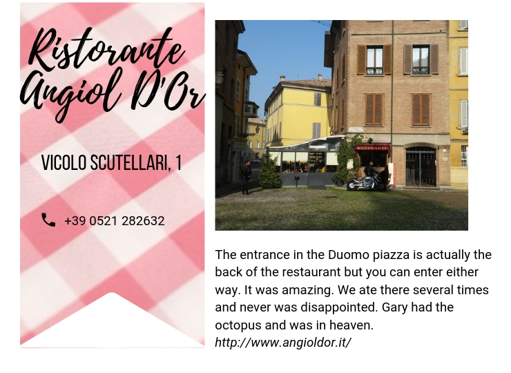 Parma recommended restaurants, ouritalianjourney.com