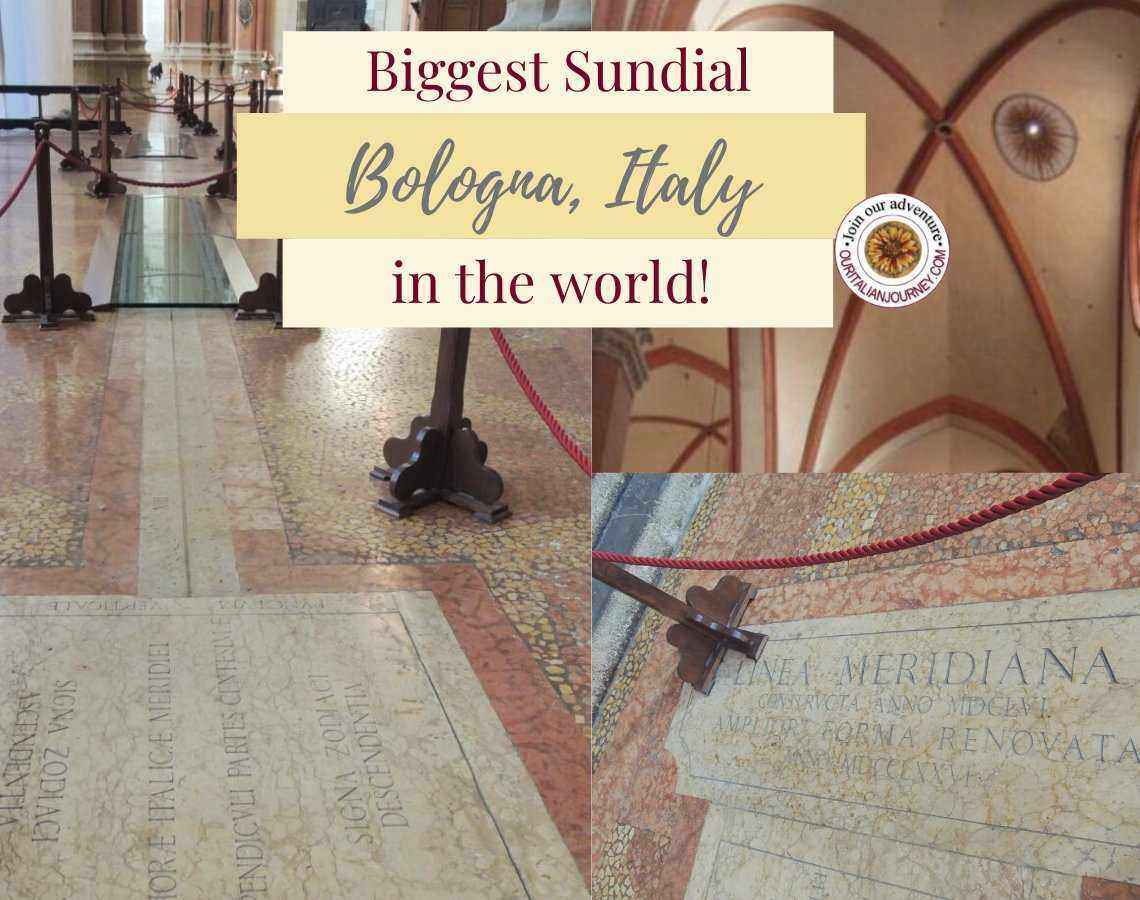 Biggest sundial in the world, Bologna, Italy. ouritalianjourney.com