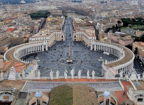 A view from the Vatican from above. View of Piazza di San Pietro. 17 amazing sites to check out when in Rome.