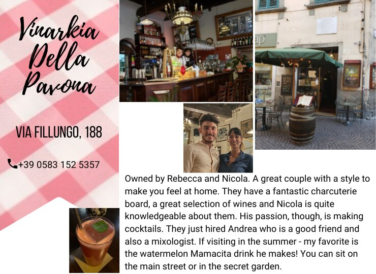 Lucca recommendation for cockatils and wine - ouritalianjourney.com