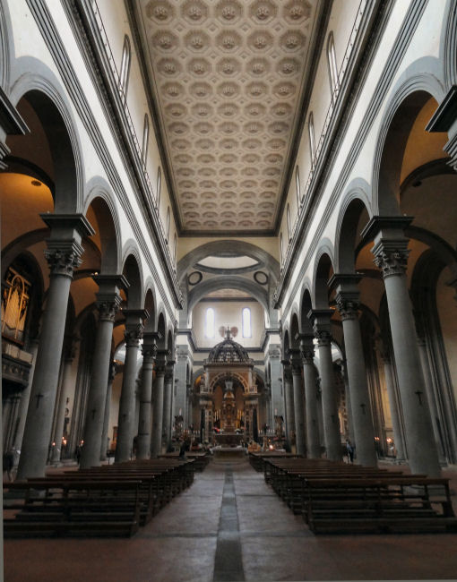 Santo Spirito Church, Florence, Italy, Firenze, Oltrano, Brunelleschi, ouritalianjourney.com