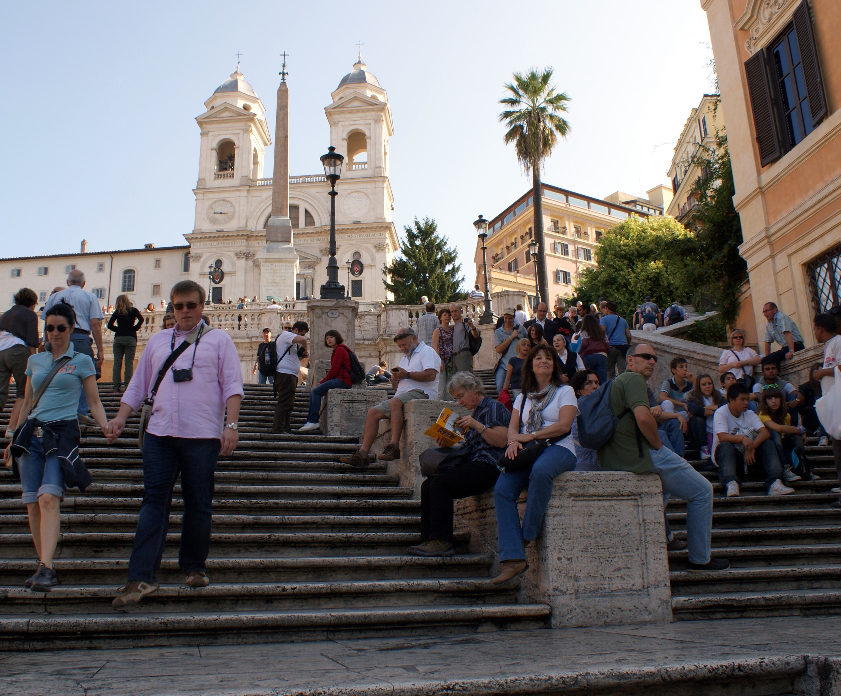 The Spanish Steps in Rome, Italy is a great place to relax. It is one of our 17 amazing sites to check out when in Rome.