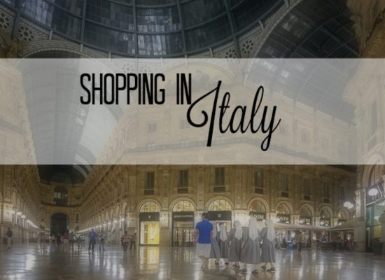 shopping in Italy, ouritalianjourney.com