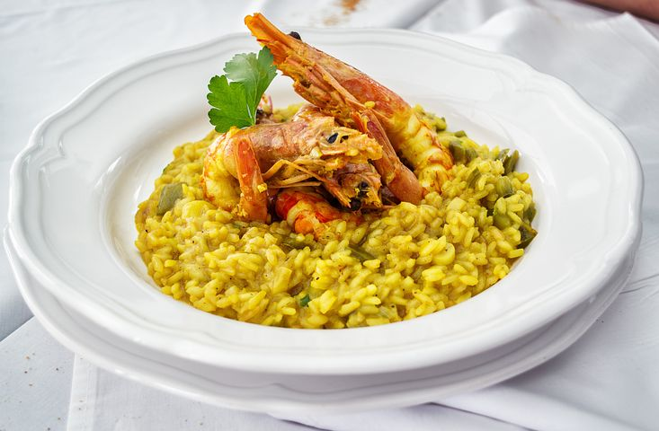 Risotto is made with Arborio rice and found everywhere in Italy. Made with mushrooms and even seafood. ouritalianjourney.com