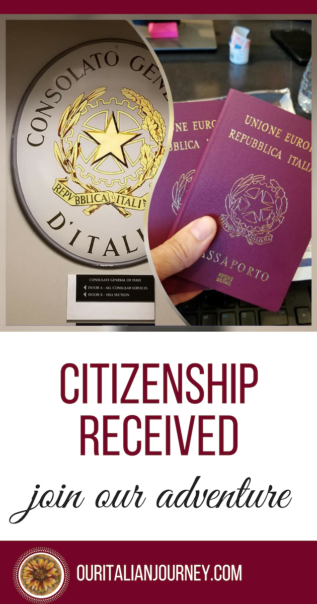 citizenship and passports received, ouritalianjourney.com