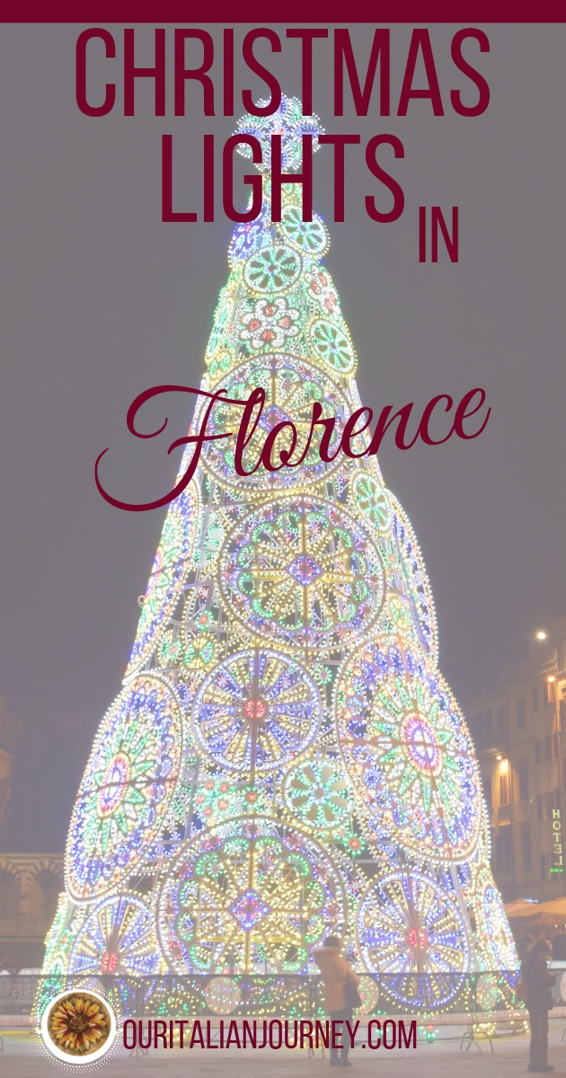 Christmas lights in Florence; ouritalianjourney.com