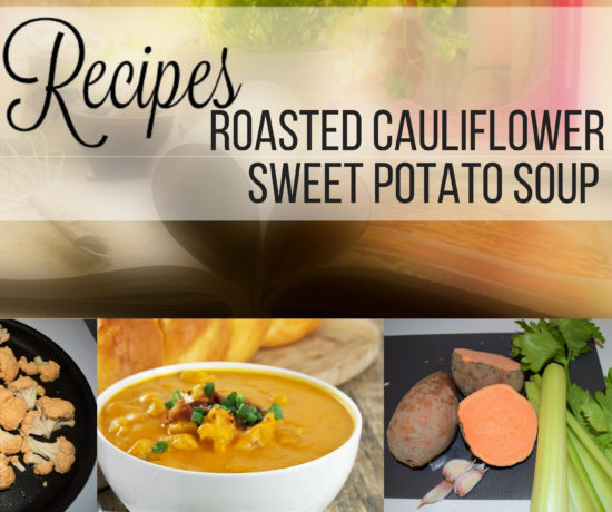 roasted cauliflower & sweet potato soup, ouritalianjourney.com