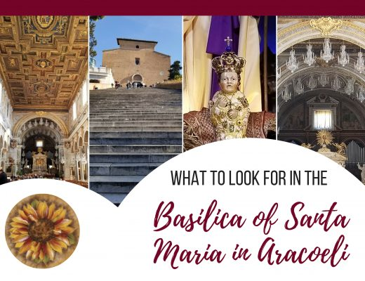 what to look for in the Basilica of Santa Maria in Aracoeli, Rome, Italy. ouritalianjourney.com