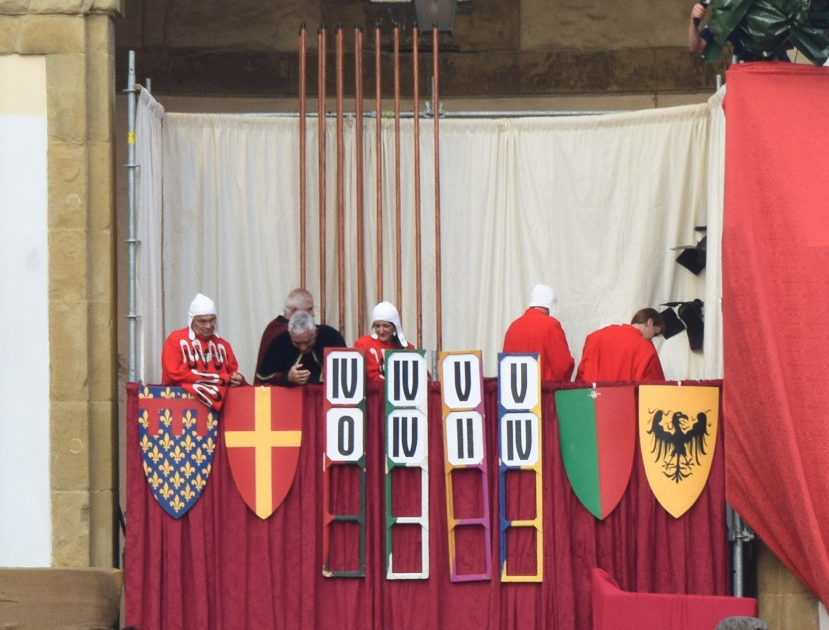 Giostra del Saracino or Joust of the Saracen in Arezzo, Italy, September 1, 2019. Medieval event, https://ouritalianjourney.com/attending-the-joust-of-the-saracen-in-arezzo