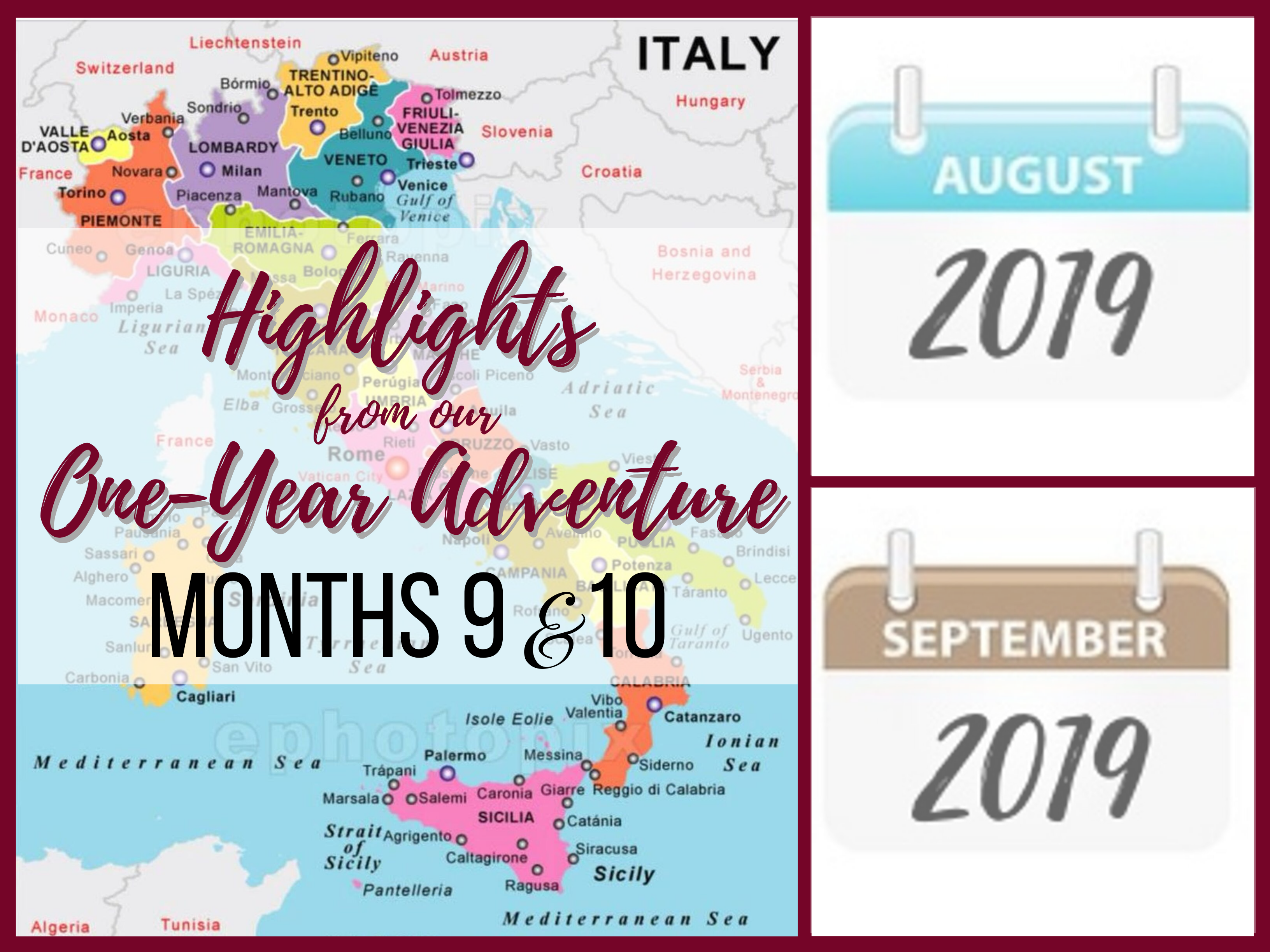 Months 9 & 10 for our 1-year adventure in Italy. New towns explored. https://ouritalianjourney.com/months-9-10-1-year-adventure-in-italy
