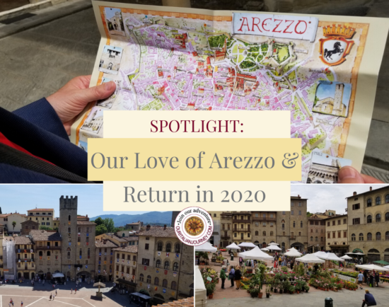 Spotlight: Our love of Arezzo and return in 2020. Arezzo is in Tuscany, Italy. https://ouritalianjourney.com/arezzo-tuscany-italy
