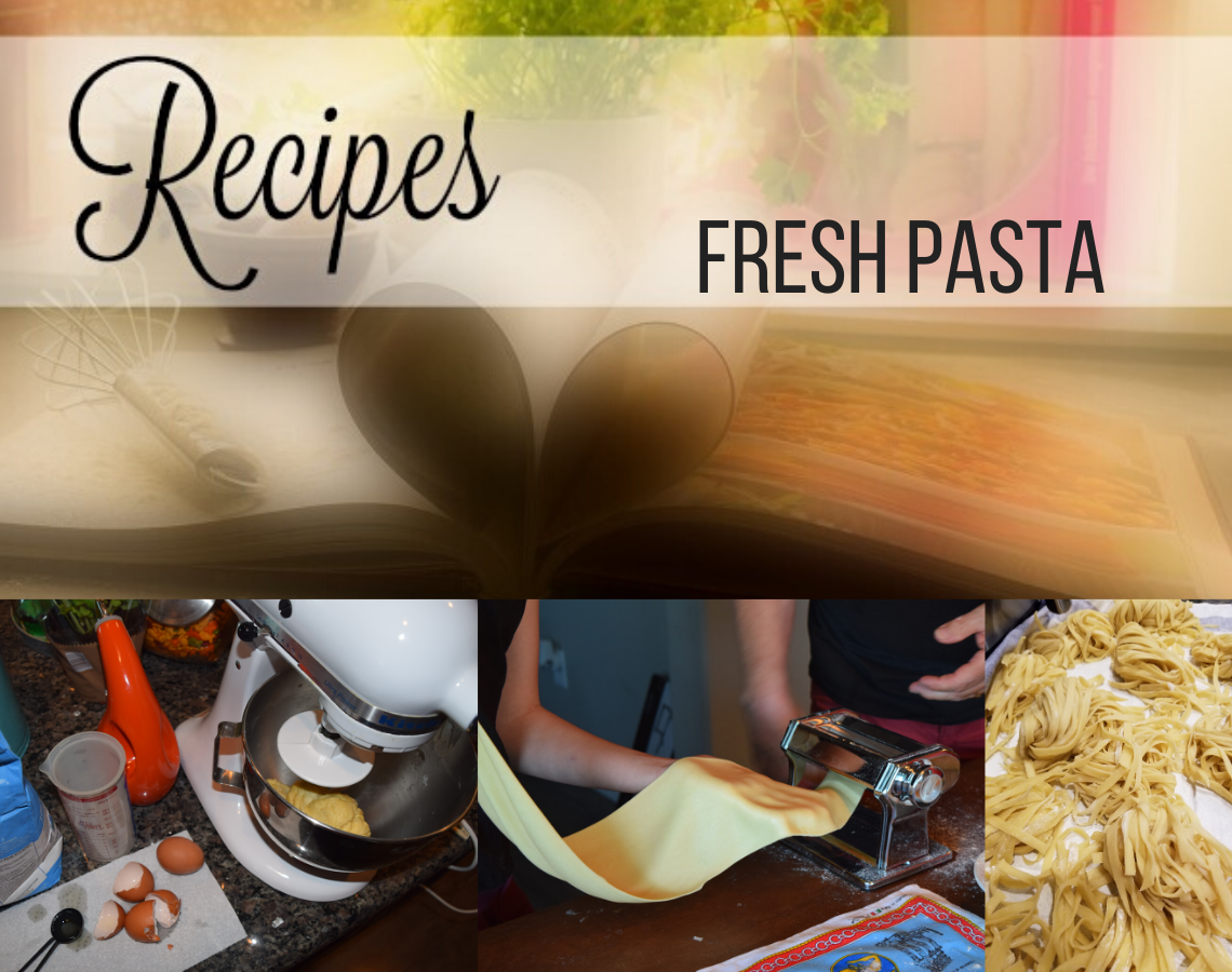 Fresh pasta recipe, ouritalianjourney.com