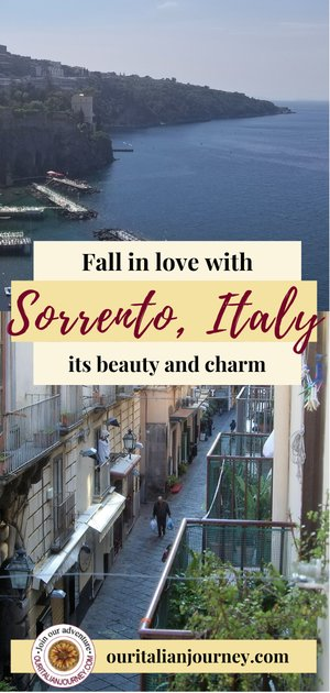 Sorrento, Italy - charming, beautiful known for lemons, ceramics, limencello