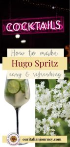 Hugo summer mint and prosecco cocktail recipe and history. ouritalianjourney.com