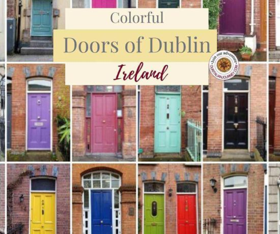 Colorful and famous doors of Dublin, Ireland. ouritalianjourney.com