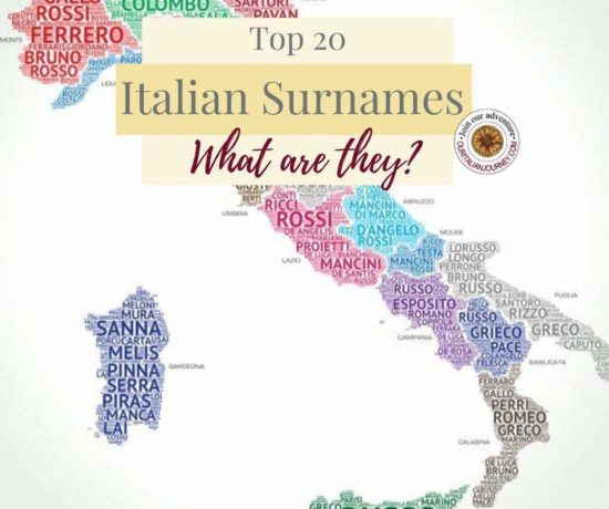 Top 20 Italian Surnames in Italy. Top 10 Surnames in US. Last names, family names, ouritalianjourney.com