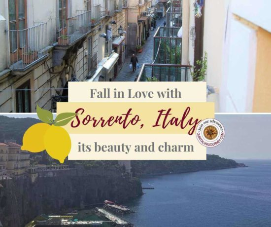 Town of Sorrento, Italy. Charming & beautiful. Lemons, ceramics and lacework