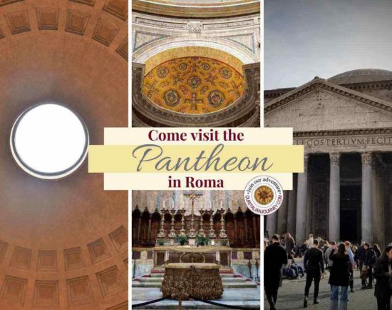 Pantheon is a Roman temple now church with an amazing oculus and dome. Ancient Rome. ouritalianjourney.com