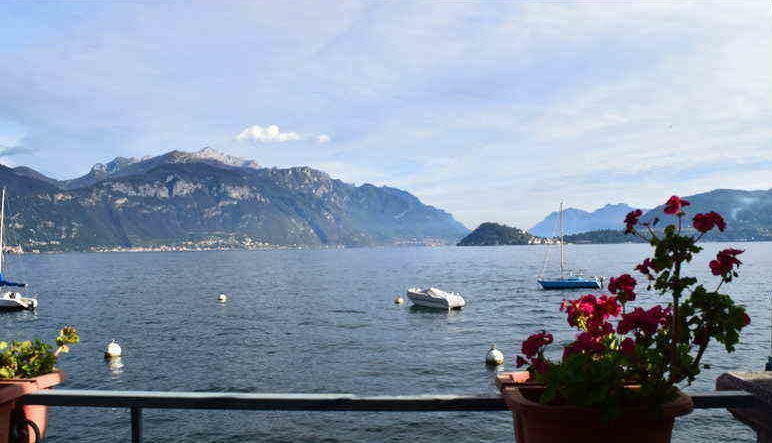 Views of Lake Como, Italy from walkway on Mennaggio. ouritalianjourney.com