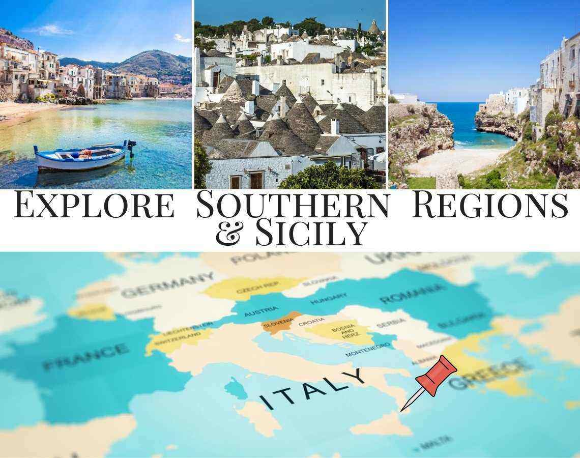 Explore and discover Southern Regions and Sicily in Italy