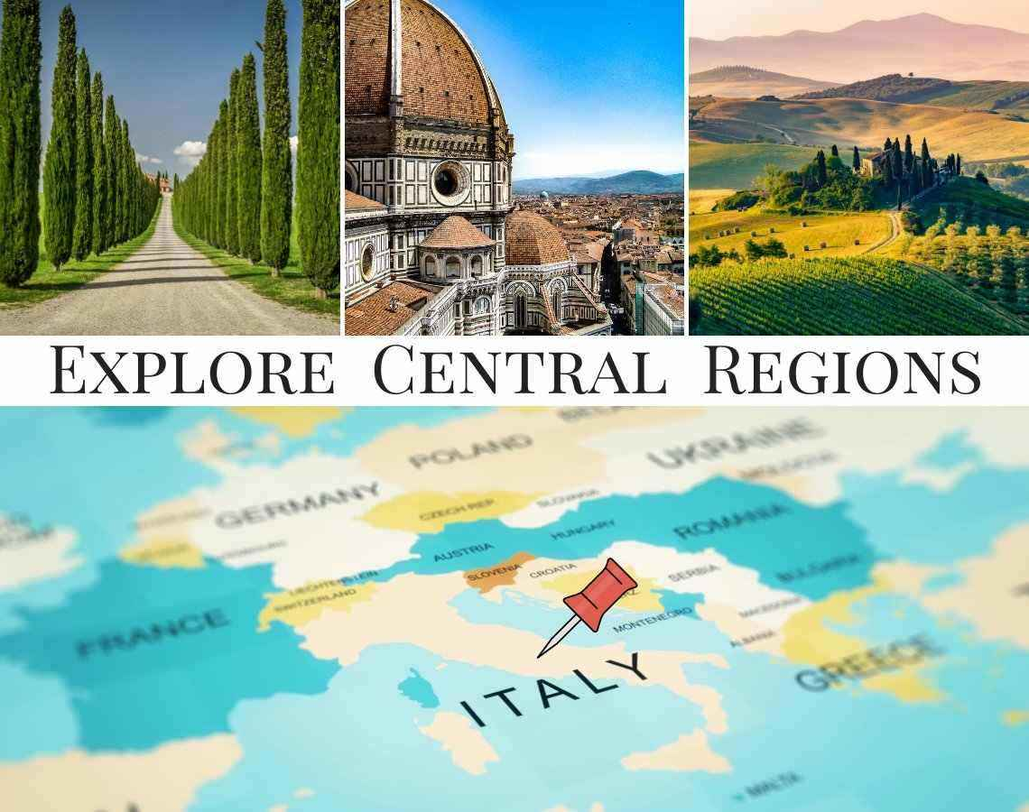 Explore and discover Central Regions in Italy