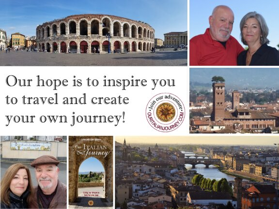 inspire you to travel graphic from Our Italian Journey. ouritalianjourney.com