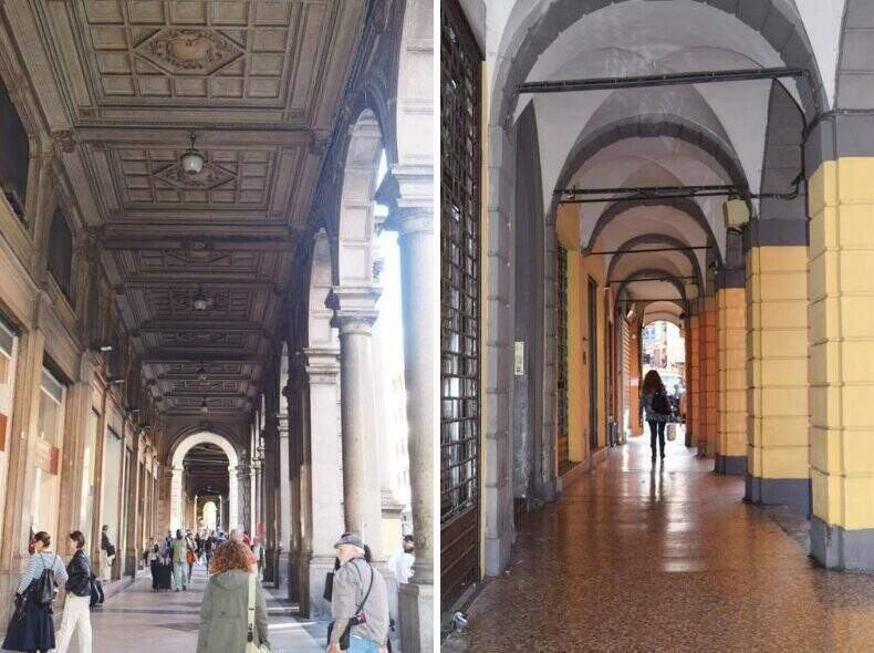Historic porticoes of Bologna is a must vacation stop. ouritalianjourney.com