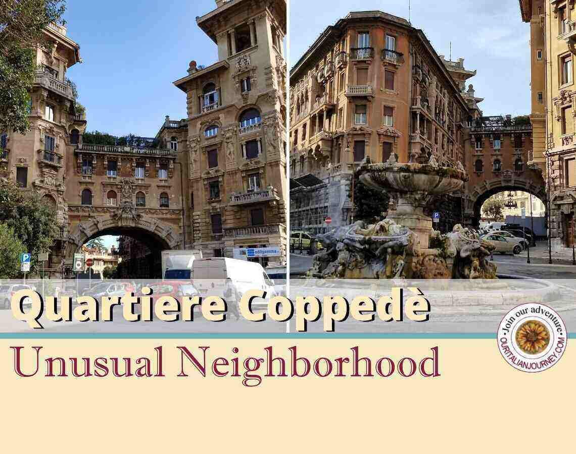 Quartiere Coppede in Rome is a unique and must see neighborhood. ouritalianjourney.com