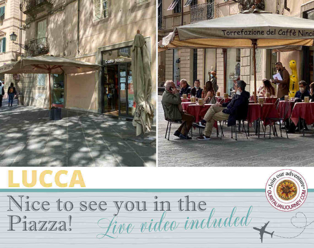 Lucca, nice to meet you in the Piazza! Video included - ouritalianjourney.com