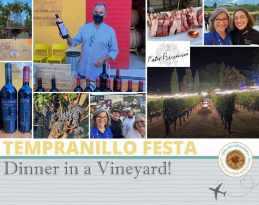 Festa Tempranillo with dinner in a vineyard - ouritalianjourney.com