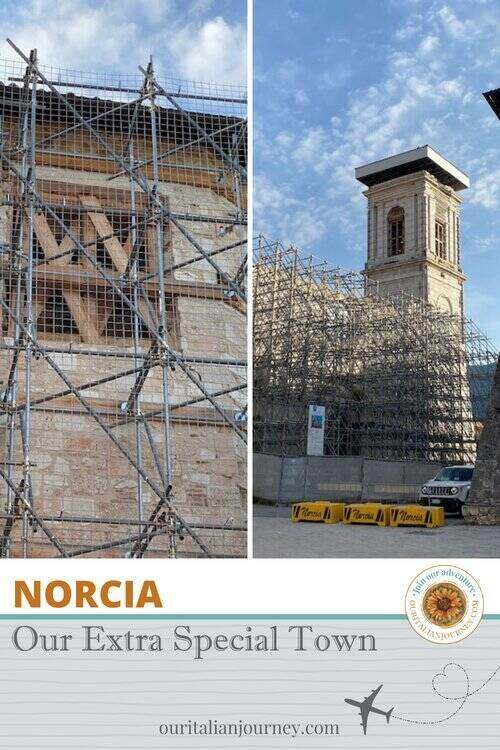 Norcia pin for Pinterest - ouritalianjourney.com