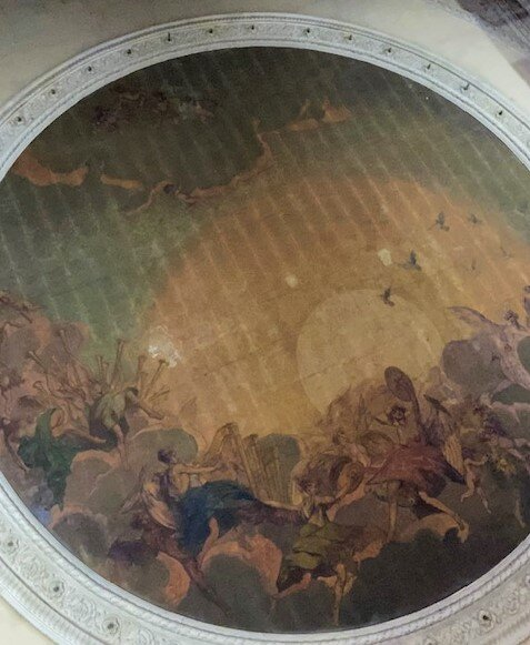 The ceiling in Cinema Moderno, Lucca - ouritalianjourney.com